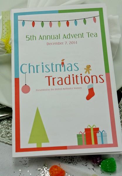 Advent tea program cover