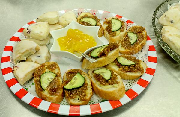 Advent tea sandwiches and lemon curd
