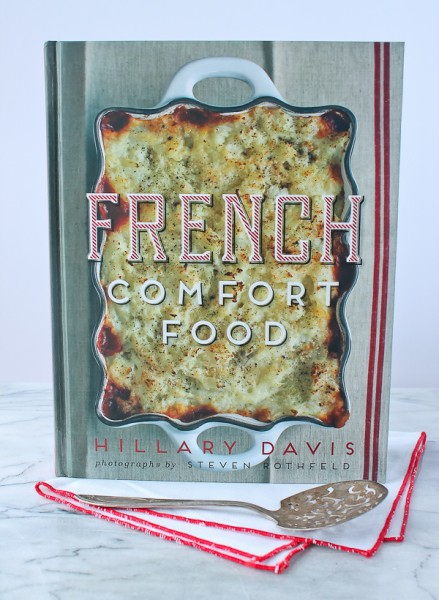 French Comfort Food cover with napkin and server
