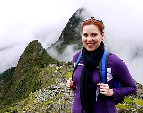 Kristina on Macchu Picchu