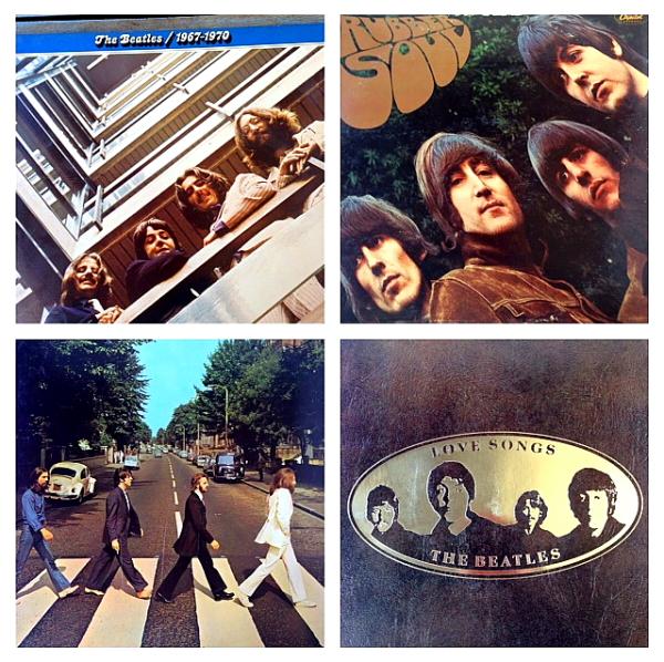 Beatles 4 album covers