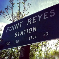 Point Reyes city sign