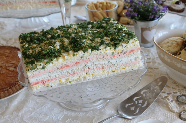 Tea Party sandwich cake 1