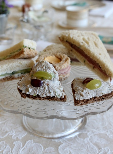 Tea Party sandwiches on plate