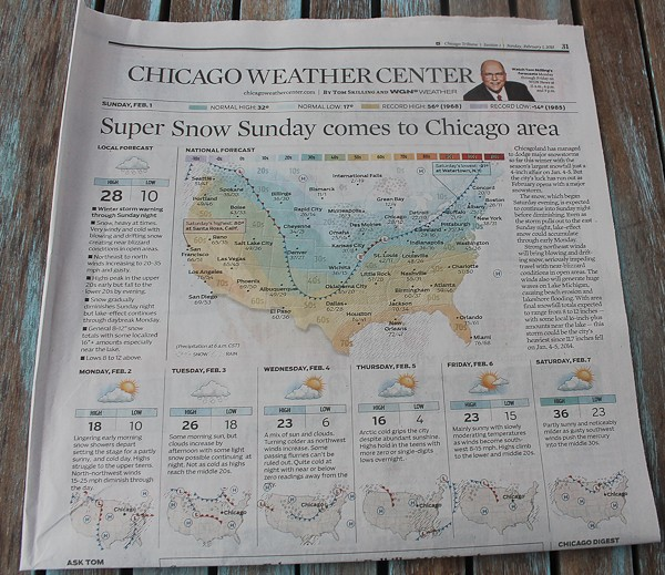 Trib snow report