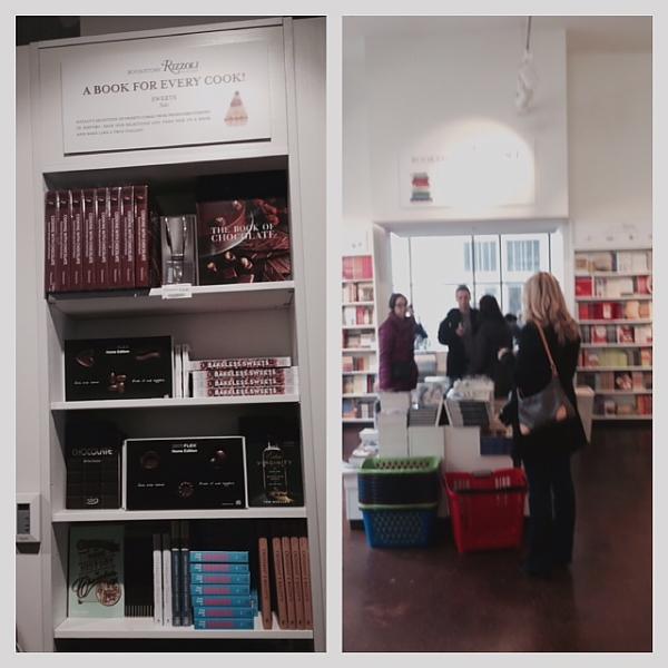 Eataly book shelves