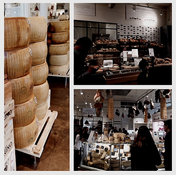 Eataly trio of cheese and bread