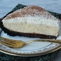 Chocolate pie slice