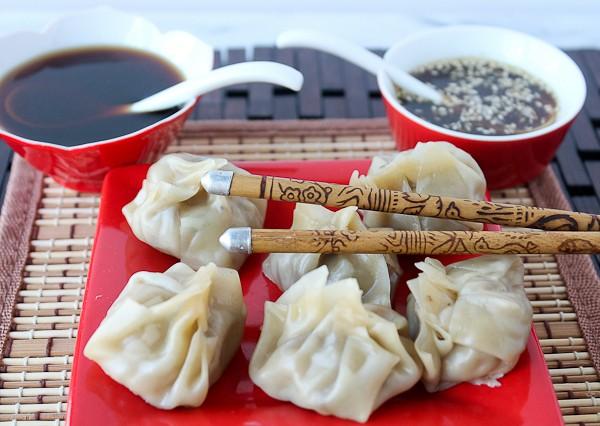 Dumplings 2 dips behind 2