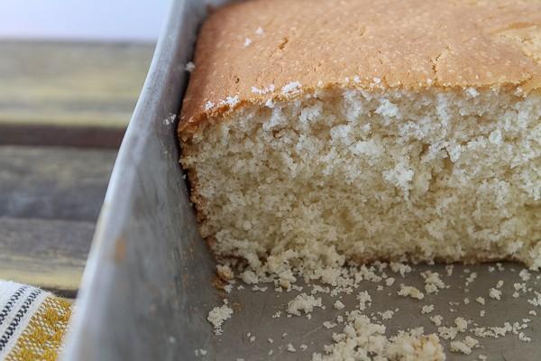 Iowa pudding cake in pan