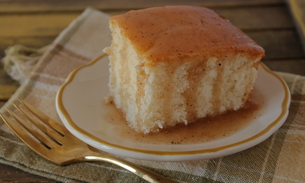 Iowa pudding cake piece with sauce 1