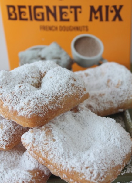 NOLA beignet with box mix close up