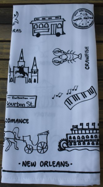 NOLA tea towel