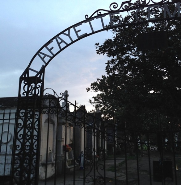 Wedding cemetery with gate
