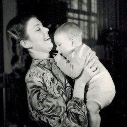 Mom holding baby Paul