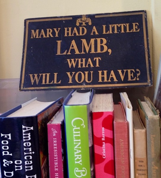 Omnivore Mary had a little lamb sign