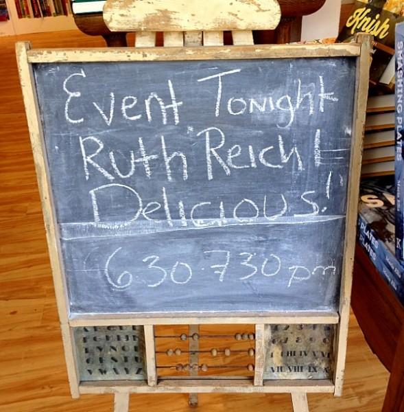 Omnivore Ruth Reichel sign