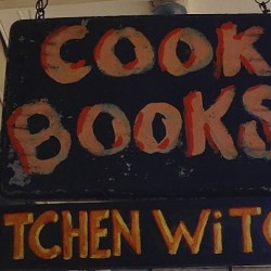 Wedding Kitchen Witch sign close up for image