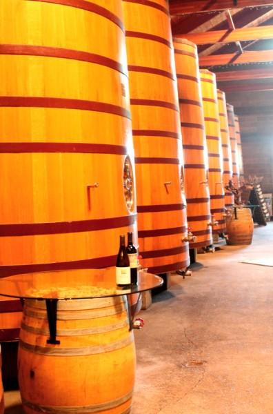 Dry Creek barrels up close