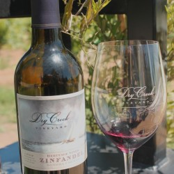 Dry Creek wine at vineyard tour