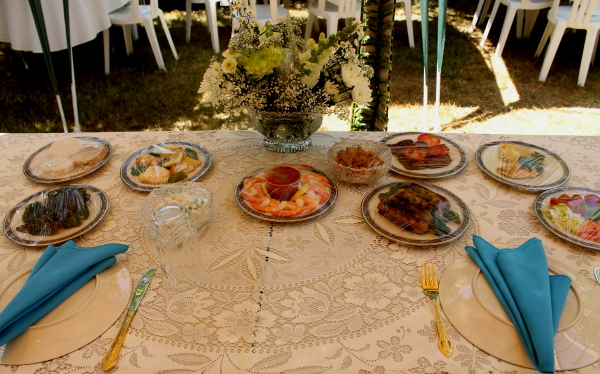 Tonga wedding  food on table 2