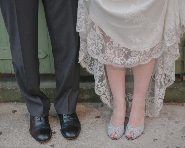 Wedding shoes standing