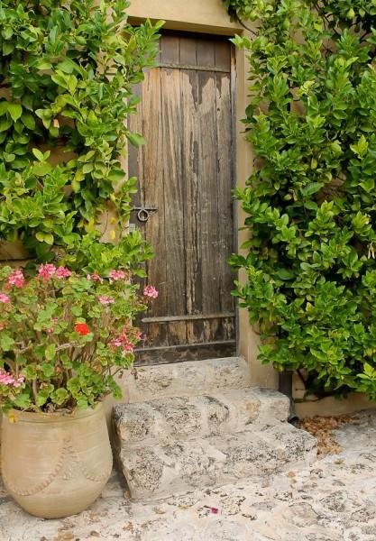 Butera courtyard door