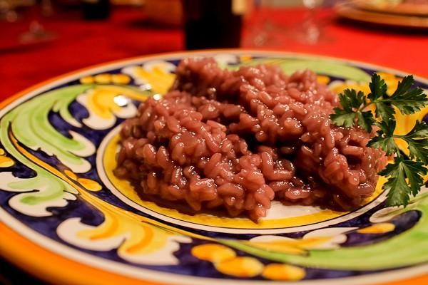 Butera red wine risotto