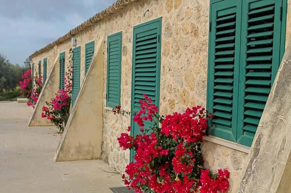 Butera side green shutters