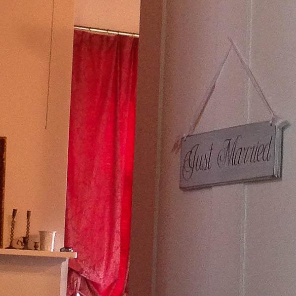 MS Just Married door