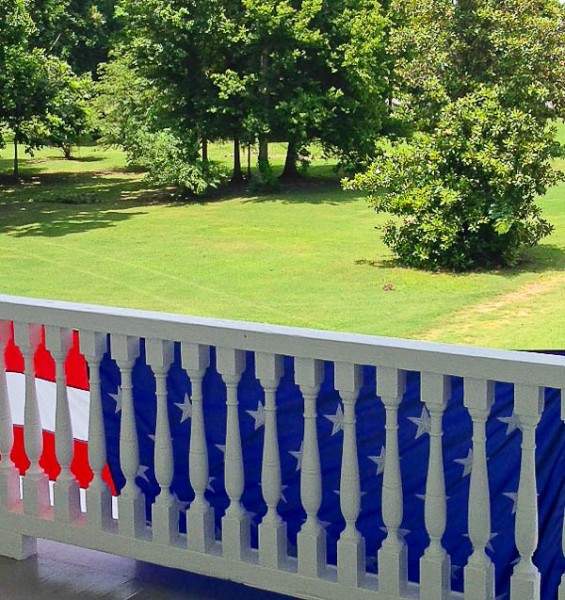 MS balcony view of front yard