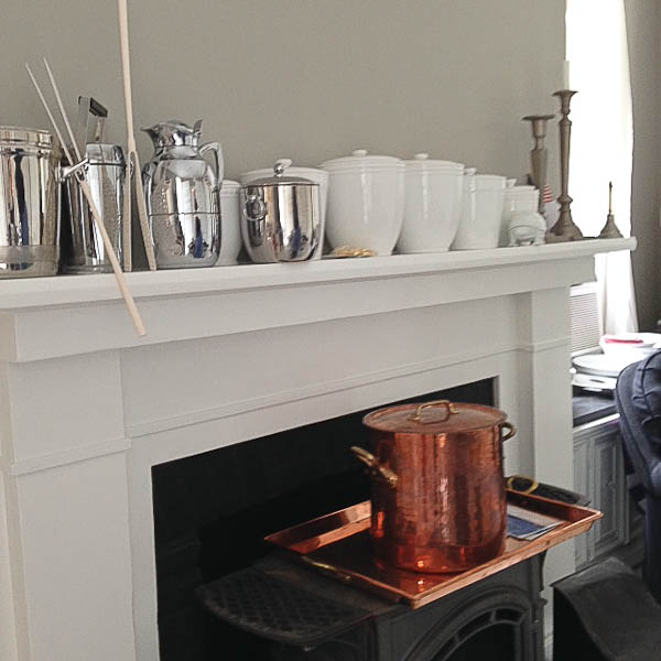 MS kitchen fireplace with copper pot