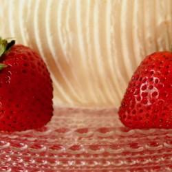 Strawberry Angel Cake image photo