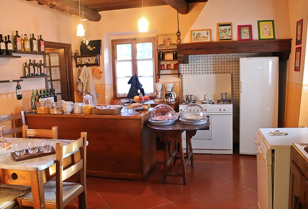 Tuscany B & B cooking area