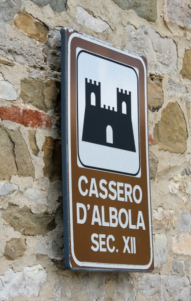Tuscany castle sign