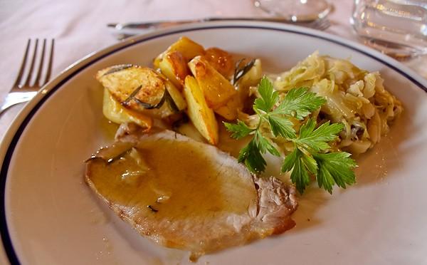 Tuscany pork dinner