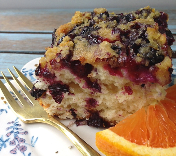 Low Fat Blueberry Coffee Cake Sour Cream