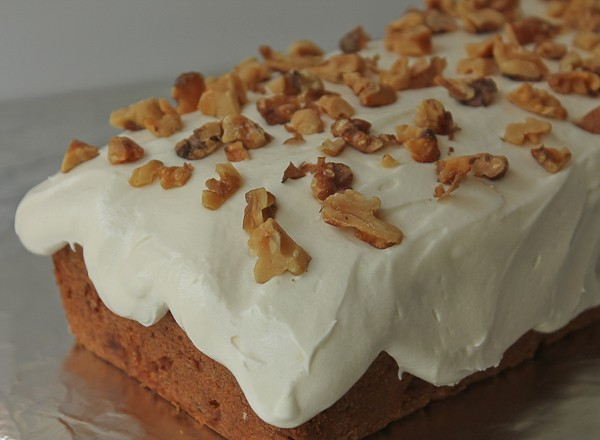 Banana Cake frosted