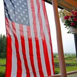 Farmhouse American flag