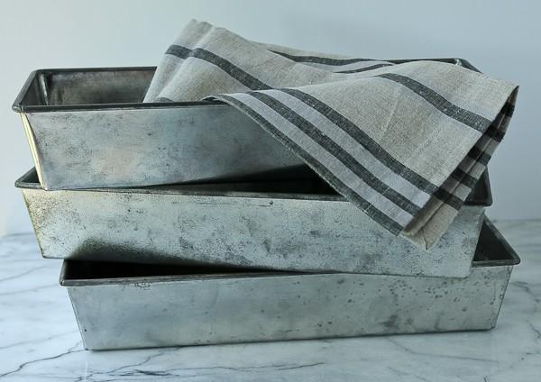 Vintage long loaf pans
