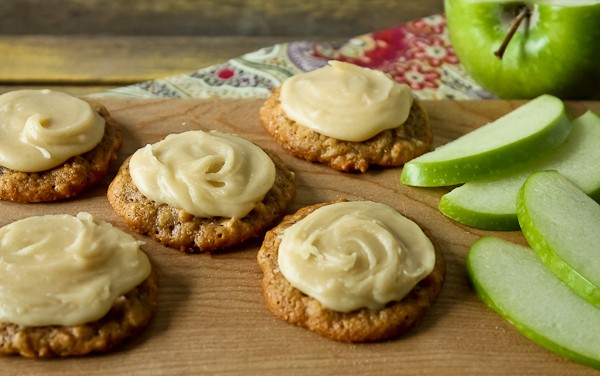 Apple cookies with apple