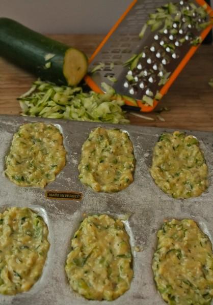 Zucchini Madeleine unbaked