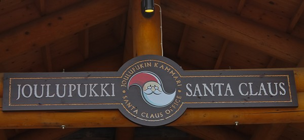 Arctic Circle Santa sign