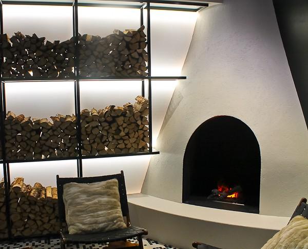 Arctic Lights fireplace