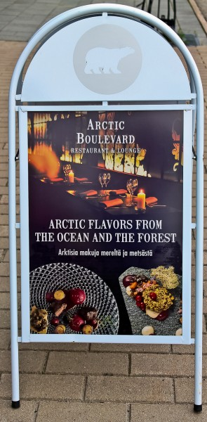 Arctic Lights restaurant sign