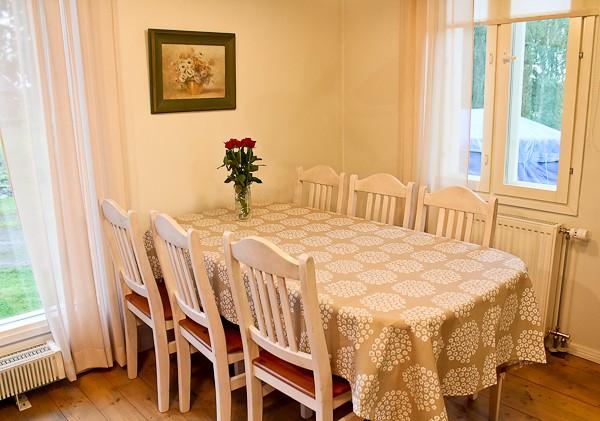Farmhouse kitchen table empty