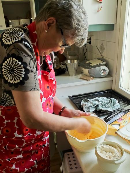 Leena mixing slice cookies 2