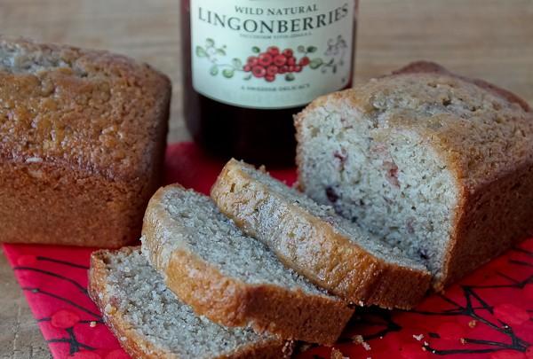 Lingonberry Quick Bread 2