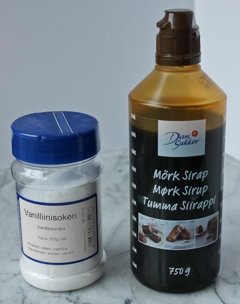 Syrup and vanilla sugar