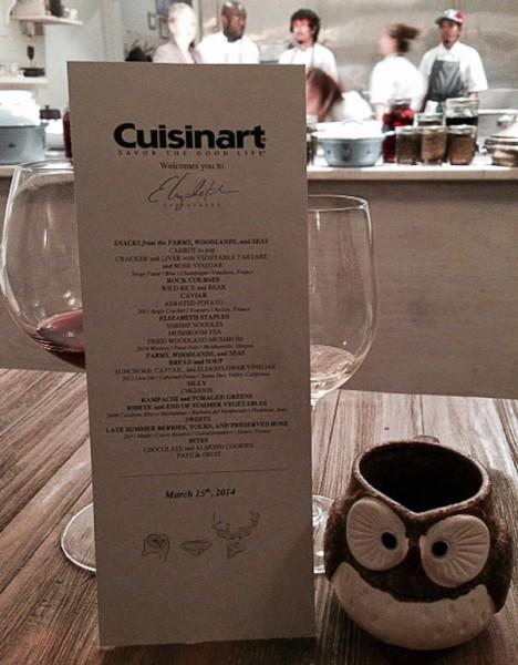 Elizabeth Cuisinart menu